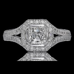 Asscher Crisscut Diamond Ring G54-ACC100